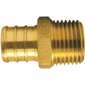 APOLLO 3/4 IN. BRASS PEX BARB X 1/2 IN. MALE PIPE THREAD REDUCING ADAPTER