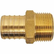 APOLLO 1 IN. BRASS PEX BARB X 3/4 IN. MALE PIPE THREAD REDUCING ADAPTER