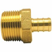 APOLLO 1/2 IN. BRASS PEX BARB X 3/4 IN. MALE PIPE THREAD REDUCING ADAPTER