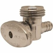 APOLLO 1/2 IN. CHROME-PLATED BRASS PEX BRASS BARB X 3/4 IN. MACHINE HOSE THREAD ANGLE STOP VALVE