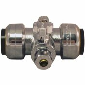TECTITE 3/4 IN. PUSH-TO-CONNECT X 3/4 IN. PUSH-TO-CONNECT X 1/4 IN. COMPRESSION SERVICE STOP TEE