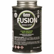 OATEY FUSION ONE-STEP 10 OZ. CLEAR PVC PIPE CEMENT