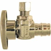 APOLLO 1/2 IN. CHROME-PLATED BRASS PEX-A EXPANSION BARB X 1/4 IN. COMPRESSION QUARTER-TURN ANGLE STOP VALVE