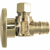 APOLLO 1/2 IN. CHROME-PLATED BRASS PEX-A EXPANSION BARB X 3/8 IN. COMPRESSION QUARTER-TURN ANGLE STOP VALVE