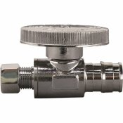 APOLLO 1/2 IN. CHROME-PLATED BRASS PEX-A EXPANSION BARB X 1/4 IN. COMPRESSION QUARTER-TURN STRAIGHT STOP VALVE
