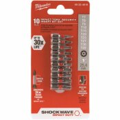 MILWAUKEE SHOCKWAVE IMPACT DUTY STEEL TORX SECURITY BIT SET (10-PIECE)