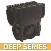 U.S. TRENCH DRAIN DEEP SERIES BLACK SLIM DRAINAGE PIT AND CATCH BASIN FOR MODULAR TRENCH AND CHANNEL DRAIN SYSTEMS - U.S. TRENCH DRAIN PART #: 83800