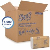 SCOTT ABSORBENCY POCKETS WHITE MULTI-FOLD PAPER TOWELS (16 CLIPS/CASE, 250-SHEETS/CLIP, 4,000 TOWELS/CASE)