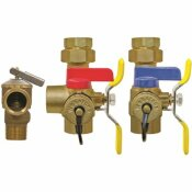 3/4 IN. FIP UNION X FIP FULL PORT LEAD FREE HOT & COLD BALL VALVES WITH PRESSURE RELIEF-TANKLESS WATER HEATER VALVE KIT