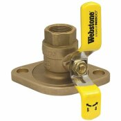 NIBCO 1 IN. THREADED LEAD FREE FULL PORT BRASS UNI-FLANGE BALL VALVE WITH ROTATING FLANGE AND ADJUSTABLE PACKING GLAND