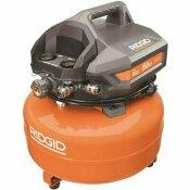 RIDGID 6 GAL. PORTABLE ELECTRIC PANCAKE AIR COMPRESSOR