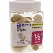 NIBCO 1/2 IN. CPVC CTS SOCKET X SOCKET 90 ELBOW FITTING (25-JAR)