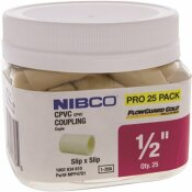 NIBCO 1/2 IN. CPVC CTS SOCKET X SOCKET COUPLER FITTING PRO PACK (25-PACK)
