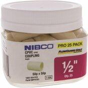 NIBCO 1/2 IN. CPVC CTS SOCKET X SOCKET COUPLER FITTING (25-JAR)