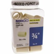 NIBCO 3/4 IN. CPVC CTS SOCKET X SOCKET COUPLER FITTING PRO PACK (25-PACK)