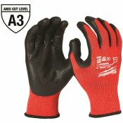 NOT FOR SALE - 303635916 - MILWAUKEE MEDIUM RED NITRILE LEVEL 3 CUT RESISTANT DIPPED WORK GLOVES - MILWAUKEE PART #: 48-22-8931