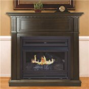 PLEASANT HEARTH 27,500 BTU 42 IN. CONVERTIBLE VENTLESS NATURAL GAS FIREPLACE IN TOBACCO