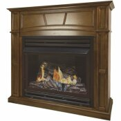 PLEASANT HEARTH 32,000 BTU 46 IN. FULL SIZE VENTLESS PROPANE GAS FIREPLACE IN HERITAGE