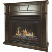 PLEASANT HEARTH 32,000 BTU 46 IN. FULL SIZE VENTLESS NATURAL GAS FIREPLACE IN TOBACCO