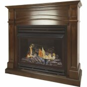 PLEASANT HEARTH 32,000 BTU 46 IN. FULL SIZE VENTLESS PROPANE GAS FIREPLACE IN CHERRY