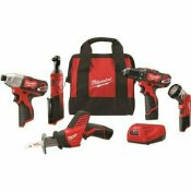 NOT FOR SALE - 304708058 - NOT FOR SALE - 304708058 - MILWAUKEE M12 12-VOLT LITHIUM-ION CORDLESS COMBO KIT (5-TOOL) WITH TWO 1.5AH BATTERIES, CHARGER & TOOL BAG - MILWAUKEE PART #: 2498-25