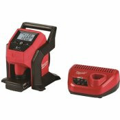 MILWAUKEE M12 12-VOLT LITHIUM-ION CORDLESS COMPACT INFLATOR KIT WITH 4.0 AH BATTERY AND CHARGER - MILWAUKEE PART #: 2475-21XC