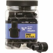 APOLLO 3/4 IN. PLASTIC PEX BARB X MALE PIPE THREAD ADAPTER PRO PACK (25-PACK)