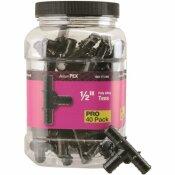 APOLLO 1/2 IN. PLASTIC PEX BARB TEE PRO PACK (40-PACK)