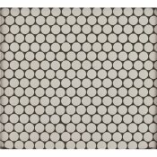 MSI PENNY ROUND BIANCO 11.3 IN. X 12.2 IN. X 6 MM GLOSSY CERAMIC MESH-MOUNTED MOSAIC TILE (14.4 SQ. FT. / CASE)