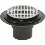 OATEY PVC SHOWER DRAIN WITH ROUND 4-3/16 IN. CHROME STRAINER