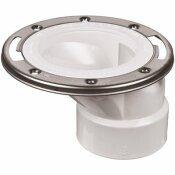 OATEY PVC OFFSET OPEN TOILET FLANGE WITH STAINLESS STEEL RING