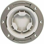 NOT FOR SALE - 305248439 - NOT FOR SALE - 305248439 - OATEY FAST SET 4 IN. PVC HUB TOILET FLANGE WITH TEST CAP AND STAINLESS STEEL RING - OATEY PART #: 436572