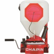 CHAPIN 35 LBS. CAPACITY CHEST MOUNTED SPREADER WITH EASY FILL HOPPER FOR GRASS SEED AND FERTILIZER