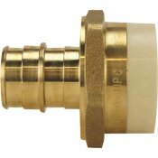 APOLLO 3/4 IN. BRASS PEX-A BARB X 3/4 IN. SCHEDULE 40 PVC STRAIGHT ADAPTER