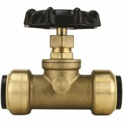 TECTITE 3/4 IN. BRASS PUSH-TO-CONNECT STOP VALVE WITH DRAIN