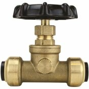 TECTITE 1/2 IN. BRASS PUSH-TO-CONNECT STOP VALVE WITH DRAIN