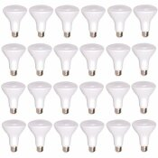 SIMPLY CONSERVE 65-WATT EQUIVALENT R30 DIMMABLE QUICK INSTALL CONTRACTOR PACK LED LIGHT BULB IN SOFT WHITE (24-PACK)