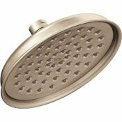 CLEVELAND FAUCET GROUP CFG 1-SPRAY 6.5 IN. SINGLE WALL MOUNT LOW FLOW FIXED SHOWER HEAD IN BRUSHED NICKEL - CLEVELAND FAUCET GROUP PART #: 47401GRBN