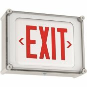 HUBBELL LIGHTING DUAL-LITE 2-WATT INTEGRATED LED WHITE/RED NEMA 4X EXIT SIGN WITH BATTERY