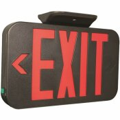 COMPASS 1.5-WATT INTEGRATED LED BLACK/RED EXIT SIGN, AC ONLY