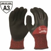 MILWAUKEE LARGE RED LATEX LEVEL 3 CUT RESISTANT INSULATED WINTER DIPPED WORK GLOVES
