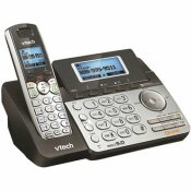 VTECH CORDLESS 2-LINE PHONE SYSTEM WITH DIGITAL ANSWERING SYSTEM, SINGLE-HANDSET SYSTEM