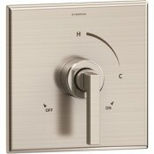 SYMMONS DURO 1-HANDLE WALL-MOUNTED SHOWER VALVE TRIM KIT IN SATIN NICKEL (VALVE NOT INCLUDED)