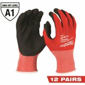 MILWAUKEE XX-LARGE RED NITRILE LEVEL 1 CUT RESISTANT DIPPED WORK GLOVES (12-PACK)