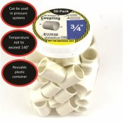CHARLOTTE PIPE 3/4 IN. PVC COUPLING SOCKET X SOCKET (50-PACK)