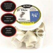 CHARLOTTE PIPE 3/4 IN. PVC ELBOW SXS (20-PACK)