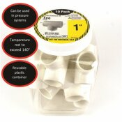 CHARLOTTE PIPE 1 IN. PVC S X S X S TEE (10-PACK)
