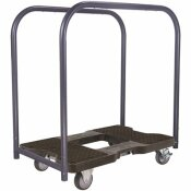 SNAP-LOC 1,200 LBS. POLYPROPYLENE PROFESSIONAL E-TRACK PANEL CART DOLLY IN BLACK