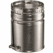 DURAVENT 4 IN. X 6.2 IN. GAS VENT MALE ADAPTER FOR CHIMNEY PIPE