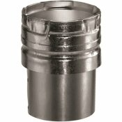 DURAVENT 4 IN. X 4.625 IN. GAS VENT DRAFT HOOD CONNECTOR FOR CHIMNEY PIPE
